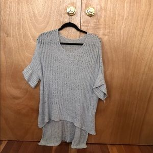 Loose knit high low sweater